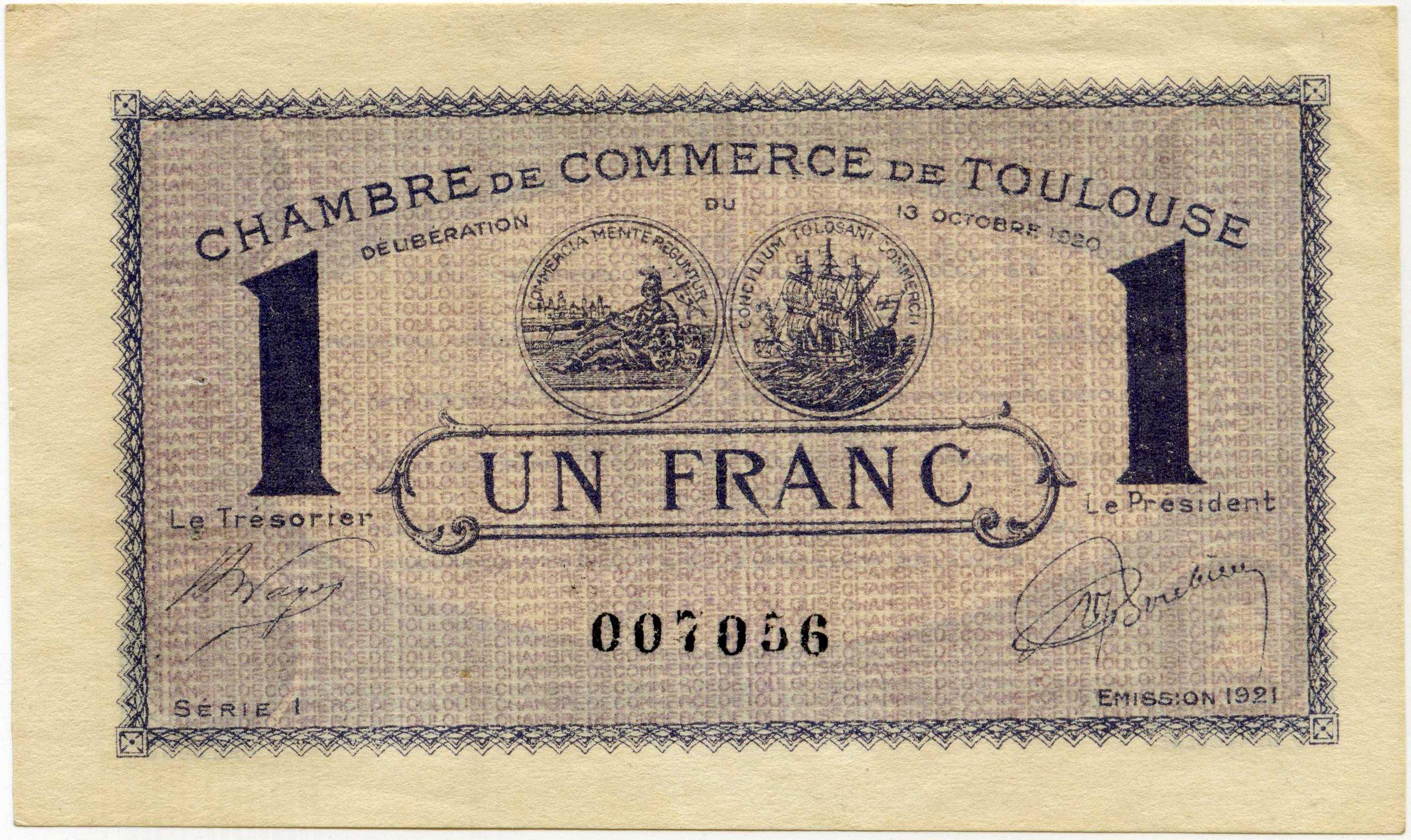 Billets De La Chambre De Commerce De Toulouse