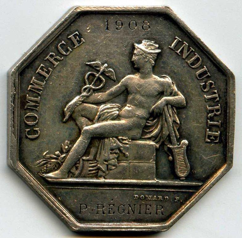 Jetons datu00e9s de 1908 et attribuu00e9s (gravure en creux) : Type Avers A3 ...